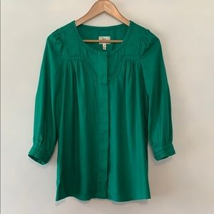 Milly of NY Silk Blend Button Front Blouse